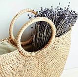 Соломенная сумка с ручками Сен-Лоран, фото 3