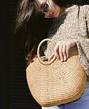 Соломенная сумка с ручками Сен-Лоран, фото 4
