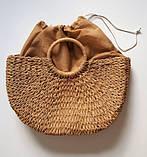 Соломенная сумка с ручками Сен-Лоран, фото 5