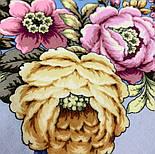 Соловьиные ночи 1891-1, павлопосадский платок шерстяной (двуниточная шерсть) с шелковой вязаной бахромой, фото 6