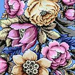 Соловьиные ночи 1891-1, павлопосадский платок шерстяной (двуниточная шерсть) с шелковой вязаной бахромой, фото 4