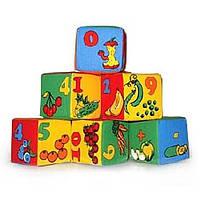 "Набор мягких кубиков ""Цифры"" 6 штук, Розумна іграшка"