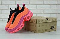 Женские кроссовки Air Max 97 Plus кораллового цвета (Найк Аир Макс 97)
