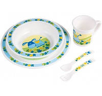 Набор посуды Smile, голубой