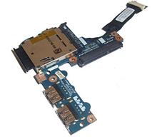 Доп. плата Acer Aspire One KAV60 D250 eMachines e250 250 eM250  Плата USB  Cartrader Sata HDD (ls-5143p) бу