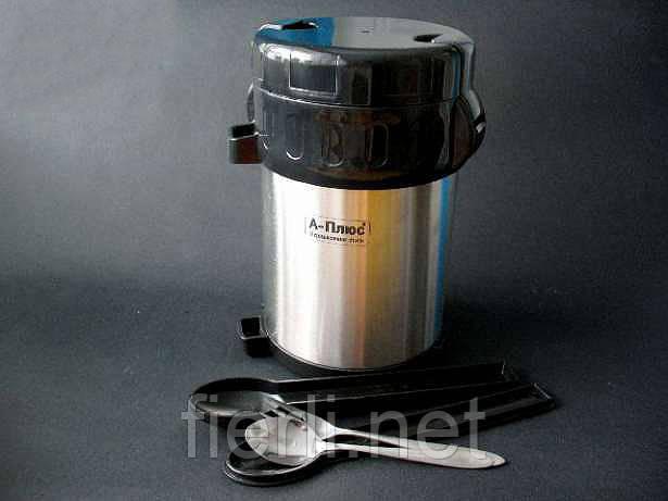 Термос для пищи А-Плюс 5518 нержавеющая сталь объём 2 л.