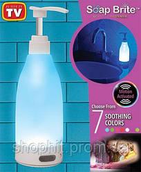 Диспенсер для мыла, Дозатор для жидкого мыла с подсветкой Soap Bright, Светящийся дозатор мыла