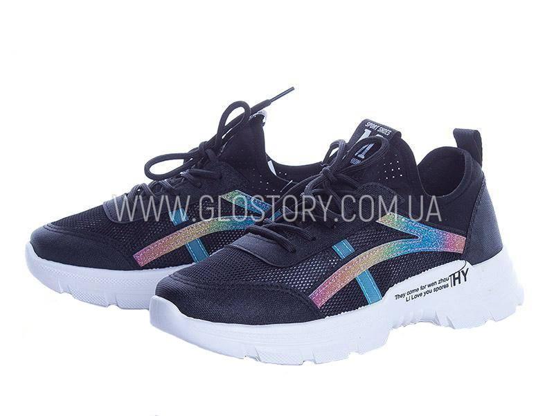 Женские кроссовки в сеточку (черные)