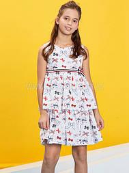 Летнее платье для девочки GLO-Story,Венгрия 110, Белый