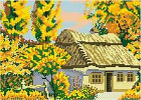 Алмазная живопись Осень, размер 35*25 см, забивка полная, стразы квадратные, без подрамника, фото 1