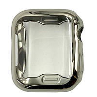Чехол-накладка DK Silicone Color Face Case для Apple Watch 40mm (silver)
