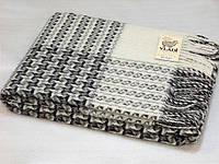 Плед шерстяной серый Капучино Vladi 140*200см