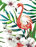 Набор-стандарт, техника акриловая живопись по номерам, ''Тропическая птица'', ROSA START