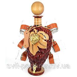 Мини-бар бутылка подарочная элитный штоф с рюмками Виноград 302-VA