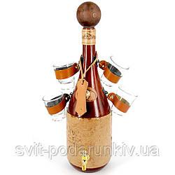 Мини-бар бутылка штоф подарочный с рюмками для алкоголя 670-VA