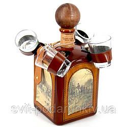 Бутылка мини-бар штоф с рюмками подарочный Охота 677-VA