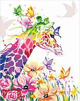 Набор, акриловая живопись по номерам, ''Жирафа мечтательница'', ROSA START