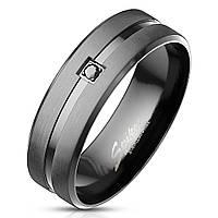 Мужское матовое черное кольцо Spikes R-M7110, р. 19, 20, 20.7, 21.5, 22