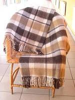 Плед полушерстяной бело-бежево-коричневый Метро Vladi