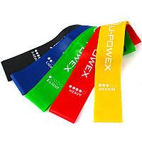 Резинки для фитнеса U-Powex Набор из 5 лент и чехол