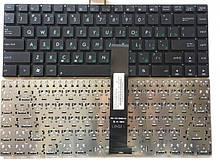 Клавіатура для ноутбука Asus N46, U37, U47 (ru-наклейки) чорна нова