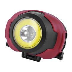 Ліхтар налобний 1802-COB+LED, (Оригінал)