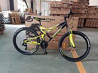 Горный велосипед Azimut Scorpion 26 дюймов. Дисковые тормоза. Желто-черный, фото 1