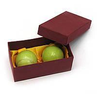 Шары массажные нефрит в футляре (d-4см)(10х4,5х5 см)