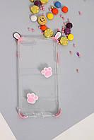 Чехлы для iPhone FAMO Чехол для iPhone 7+/8+ Ушки розовый One size (Hol-21)
