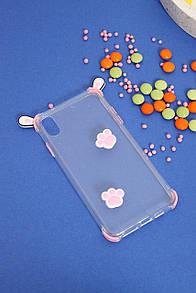 Чехлы для iPhone FAMO Чехол для iPhone X-XS Ушки розовый One size (Hol-21)
