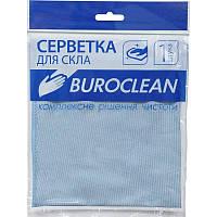 Салфетка микрофибра для стекла и зеркал Buroclean 30х30 (10200121)