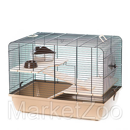 """Клетка Interzoo """"Rex 2"""" для крыс,хомяков или дегу, Размеры: 580*380*340 мм., фото 2"""