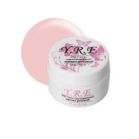 Гель для наращивания однофазный матово-розовый, YRE 15 г