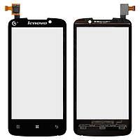 Сенсорный экран (touchscreen) для Lenovo A670T, черный, оригинал