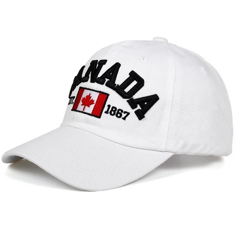 Кепка бейсболка Canada Белая, Унисекс