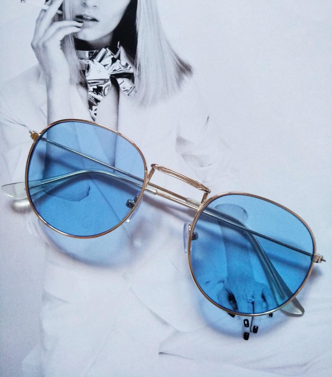 Солнцезащитные ретро очки в стиле Ray Ban Голубой уценка