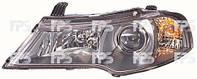 Фара передняя Daewoo Nexia (N150) 08-14 левая, черн.рамка, мех.регулир. 2202 R1-P