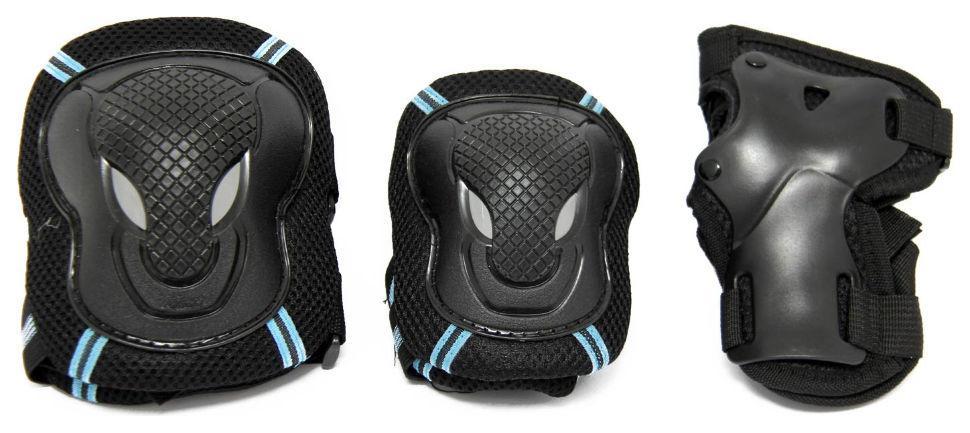Комплект защиты Maraton MicroX для роликов, самоката, скейта Black (M)