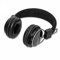 Беспроводные стерео наушники Atlanfa с гарнитурой  MP3 и FM Bluetooth Черные (AT-7611), (Оригинал)