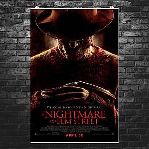 """Постер """"Кошмар на Улице Вязов. Фредди Крюггер"""". Freddy Krueger, A Nightmare on Elm Street, ужасы. Размер 60x40см (A2). Глянцевая бумага"""