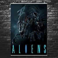 "Постер ""Aliens. Королева чужих"", ксеноморф. Размер 60x43см (A2). Глянцевая бумага"