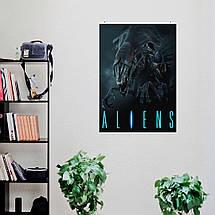 "Постер ""Aliens. Королева чужих"", ксеноморф. Размер 60x43см (A2). Глянцевая бумага, фото 2"