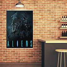 "Постер ""Aliens. Королева чужих"", ксеноморф. Размер 60x43см (A2). Глянцевая бумага, фото 3"
