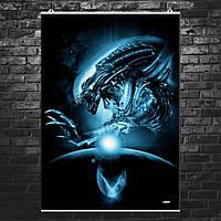 "Постер ""Чужой"". Alien, ксеноморф. Размер 60x43см (A2). Глянцевая бумага"