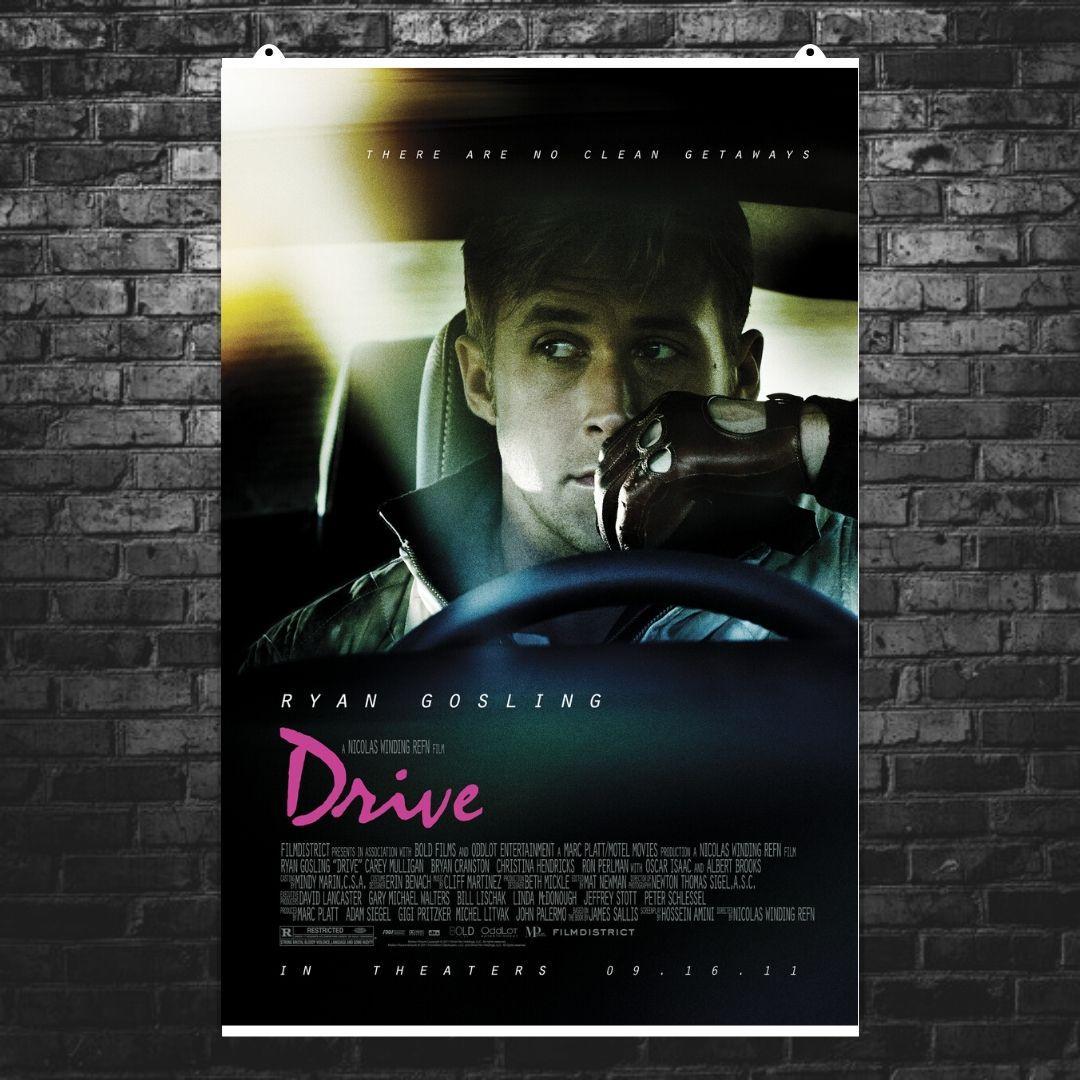 "Постер ""Drive (2011)"". Райан Гослинг, Драйв. Вариант №3. Размер 60x41см (A2). Глянцевая бумага"