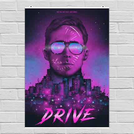 "Постер ""Drive (2011)"". Райан Гослинг, Драйв. Вариант №8. Размер 60x43см (A2). Глянцевая бумага, фото 2"