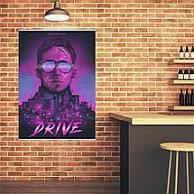 "Постер ""Drive (2011)"". Райан Гослинг, Драйв. Вариант №8. Размер 60x43см (A2). Глянцевая бумага, фото 3"
