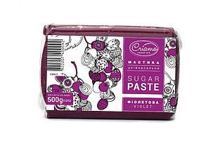 Мастика для тортов Criamo Фиолетовая обтяжка 0.5 кг