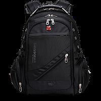 Городской эргономичный рюкзак 55 Литров Swissgear 8810 PRO с USB и AUX + дождевик в комплекте, (Оригинал)