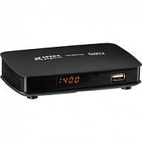 ТВ-ресивер Opera тюнер цифровой приёмник T2 с поддержкой Wi-Fi адаптера для телевизора с приложением YouTube плюс пульт Чёрный (TR-9001-HD),
